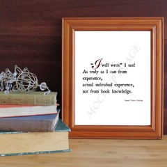 Coleridge writing motivation print - I will Write