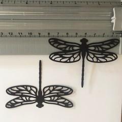 6 Black Large Dragonfly Die CuTS- CARD MAKING,EMBELLI