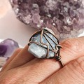Blue Calcite Statement Ring