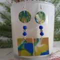 Bright & Pretty  Cobalt Blue Dangle Drop Earrings