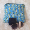 AUSTRALIAN WATTLE  ZIPPER POUCH