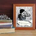 Printable Shakespeare popular illustrated quote print - Though she be but little