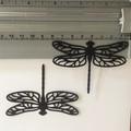 6 Black Large Dragonfly Die CuTS- CARD MAKING,EMBELLI