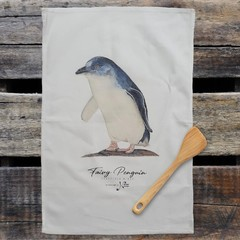 100% Cotton Tea Towel - Little Penguin