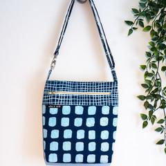 Blue Geometric Tote/Bag