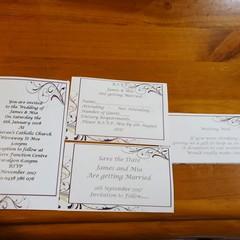 PURPLE FLOURISH WEDDING STATIONERY PACKAGE