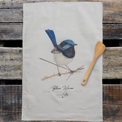 100% Cotton Tea Towel - Superb Fairy Wren