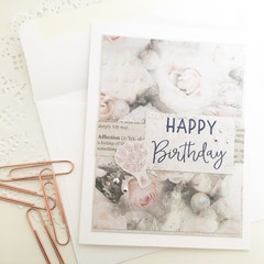 Card - Happy Birthday in pink