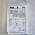 Burda 8221 sewing pattern, womens blouse pattern, size 10 to 24