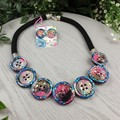 Galaxy Glitter Fusion -Resin - Necklace - Jewellery - Earrings