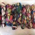 Recycled silk chiffon ribbon
