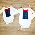 This Infant outfit for a boy would make a perfect coming home outfit or gift.