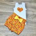 Baby Girl Gift, Paperbag Waist Shorts, Orange Bloomers, Baby Cake Smash Outfit