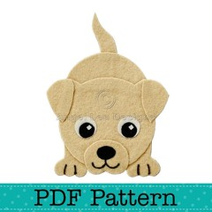 Puppy Dog Applique Template, Animal, DIY, PDF Pattern for Children, Baby