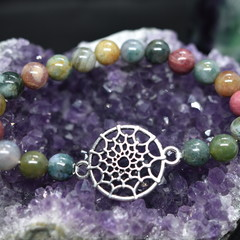 Indian Agate DreamCatcher Bracelet