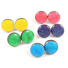 Painted wooden studs