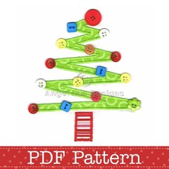 Christmas Tree Applique Template. PDF Pattern by Angel Lea Designs