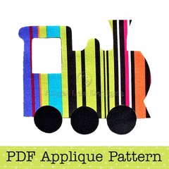 Train Applique Template, Transport, DIY, PDF Pattern for Children, Boys