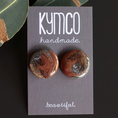 Metallic Swirl - statement stud earrings