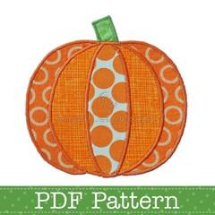 Pumpkin Applique Template. Jack O Lantern Template. Halloween PDF Templates