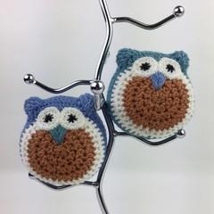 Pair Crochet Owl Softies | Soft Toy | Gift Idea | Hand Crocheted | Wool & Bamboo