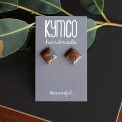 Metallic Swirl - stud earrings
