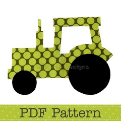 Tractor Applique Template, Transport, Farm, DIY, PDF Pattern for Children, Boys