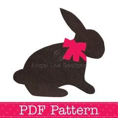 Bunny Rabbit Applique Template, Easter, Animal, DIY, Children, PDF Pattern