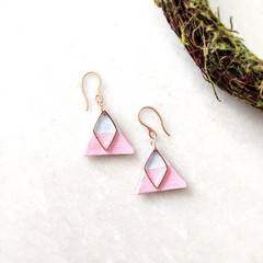Stainless Steel Minimalist Fine Jewelry Handmade Polymer Clay Statement Earrings