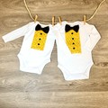 A Baby Boy Romper with Bow Tie a perfect shower gift, Baby Boy Shower Gift