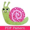 Snail Applique Template PDF Pattern Fabric Applique Baby Girl DIY