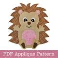 Hedgehog Applique Pattern PDF Template Baby Hedgehog Applique Design