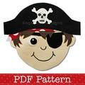Pirate Applique Pattern PDF Template Pirate Boy Applique Design