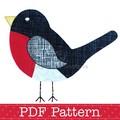 Robin Applique Template PDF Pattern Bird Animal Applique Design Christmas Robin