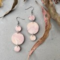 Polymer Clay Earrings - Statement Earrings Buttons and Dots