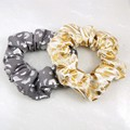 Metallic Animal Print Scrunchies