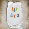 Lil Bro Big Sis Applique Pattern PDF Letter Templates Applique Design
