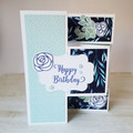 Happy Birthday Card, Trifold Shutter Card, 3D Birthday Card