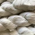 Recycled silk ribbon White chiffon 100 grams