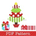Christmas Tree and Presents Applique Template. PDF Pattern by Angel Lea Designs