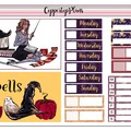 Gryffindor Weekly Sticker Kits | Harry Potter | Erin Condren Life Planner | Happ