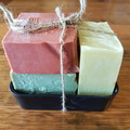 Set of 3 handmade natural soaps and soap dish (All soaps are palm oil free)