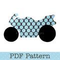 Road Bike Applique Template, Motorbike, Transport, DIY, PDF Pattern, Children