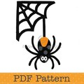 Spider and Web Applique Template. PDF Template. Children's Halloween Appliques