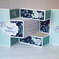 Happy Birthday Card, Trifold Shutter Card, 3D Birthday Card
