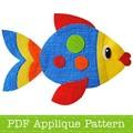 Fish Applique Pattern. PDF Template. Sea Creatures Applique Design for Children
