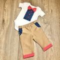 This Baby boy clothes set of Bow Tie Bodysuit and Pants for home coming, shower