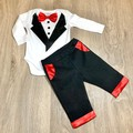 Ring Bearer Outfit, Baby Boy Tuxedo, Baby Boy Wedding Outfit Red, Baby Formal