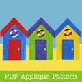 Beach Huts Applique Template Bathing Hut PDF Pattern