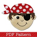 Pirate Applique Pattern PDF Template Pirate Boy Applique Design
